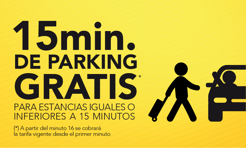 15 minutos de parking gratis